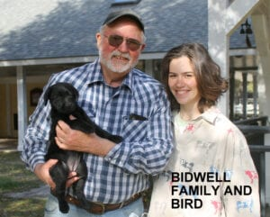 The Bidwell family and Bird