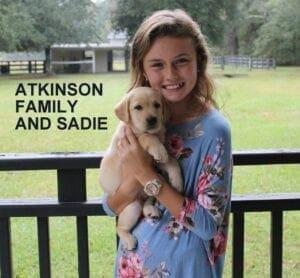 The Atkinson family and Sadie