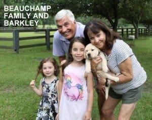 The Beauchamp family and Barkley