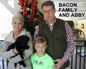 The Bacon family and Abby