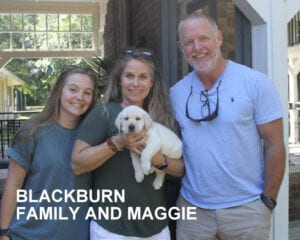 The Blackburn family and Maggie