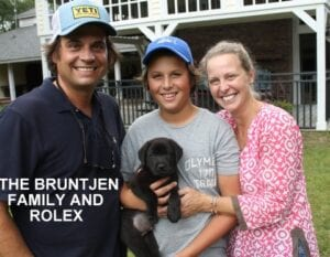 The Bruntjen family and Rolex