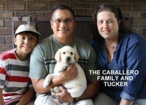 The Caballero family and Tucker