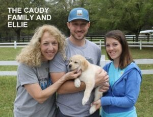 The Caudy family and Ellie