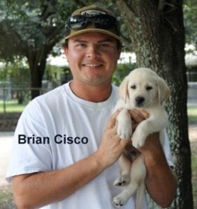 Brian Cisco and his new pup