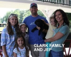 The Clark family and Jep