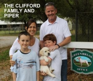 The Clifford family and Piper