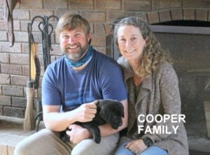 The Cooper family and their pup