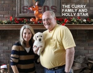 The Curry family and Holly Star