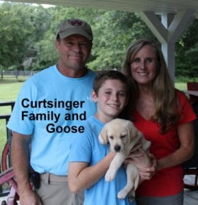 The Curtsinger family and Goose