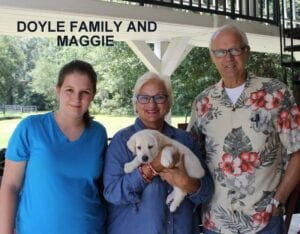 The Doyle family and Maggie