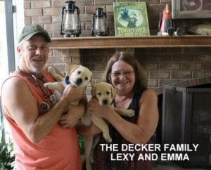 The Decker family and their dogs