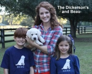 The Dickerson family and Beau