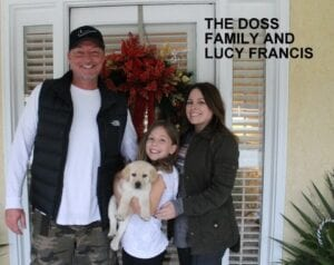 The Doss family and Lucy Francis