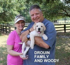 The Drouin family and Woody