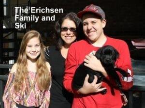 The Ehrichsen family and Ski