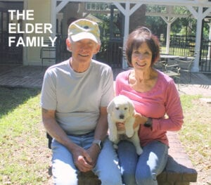 The Elder family and their dog