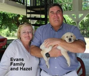 The Evans family and Hazel