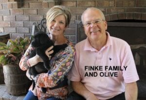 The Finke family and Olive