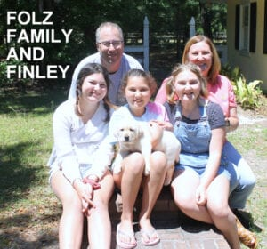 The Folz family and Finley
