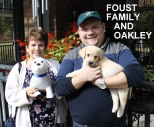 The Foust family and Oakley