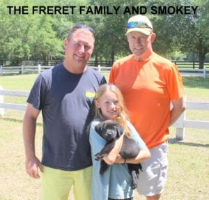 The Freret family and Smokey