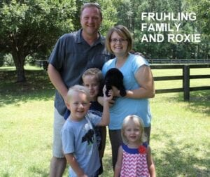 The Fruhling family and Roxie