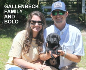 The Gallenback family and Bolo