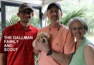 The Gallman family and Scout