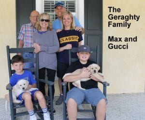 The Geraghty family and their dogs