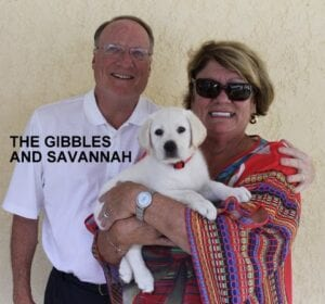The Gibbles family and Savannah