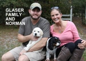 The Glasser family and Norman