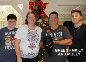 The Green family and Molly