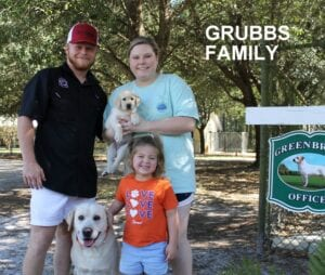 The Grubbs family and their dogs
