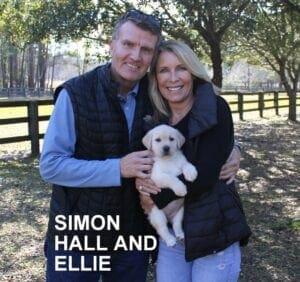 Simon Hall and Ellie