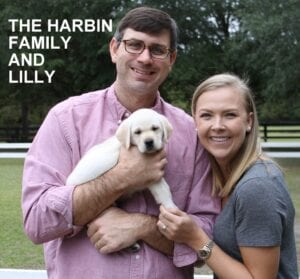 The Harbin family and Lilly