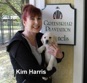 Kim Harris and her dog