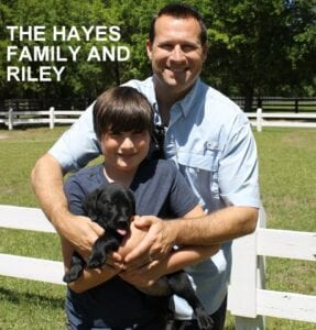 The Hayes family and Riley