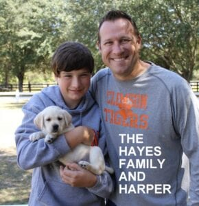 The Hayers family and Harper