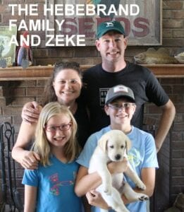 The Hebebrand family and Zeke