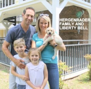 The Hergenrader family and Liberty Bell