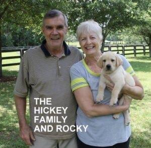 The Hickey family and Rocky