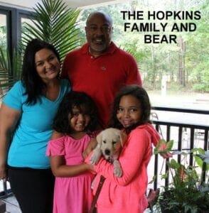 The Hopkins family and Bear