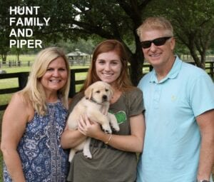 The Hunt family and Piper