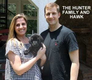 The Hunter family and Hawk