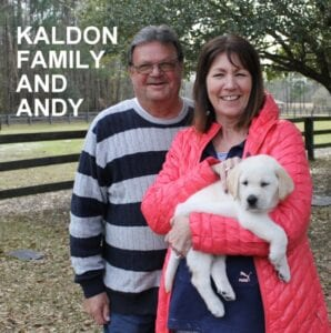 The Kaldon family and Andy