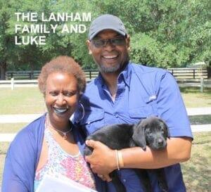 The Lanham family and Luke