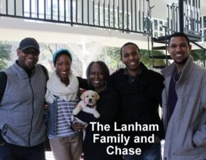 The Lanham family and Chase