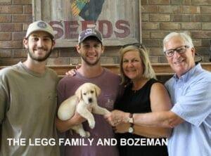 The Legg family and Bozeman