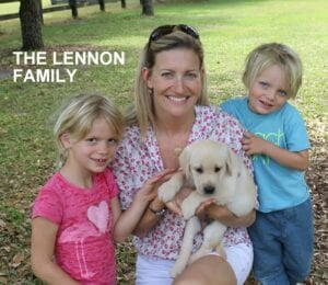 The Lennon family and their puppy